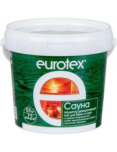 EUROTEX Сауна защитно-декоративный лак для бани и сауны 0,9кг