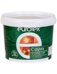 EUROTEX Сауна защитно-декоративный лак для бани и сауны 2,5кг