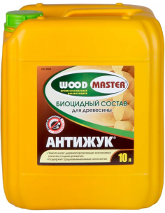 WOODMASTER АНТИЖУК биоцидный пропиточный состав для дерева 10л