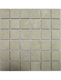 Crema Nova Tumbled 48 каменная мозаика