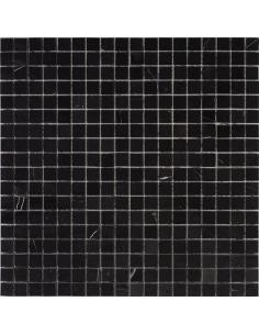 Pure Black Tumbled каменная мозаика