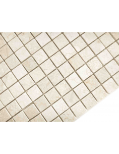 Botticino Pol 23x23 4мм каменная мозаика