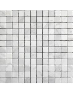 Dolomiti Bianco Pol 23x23 4мм каменная мозаика