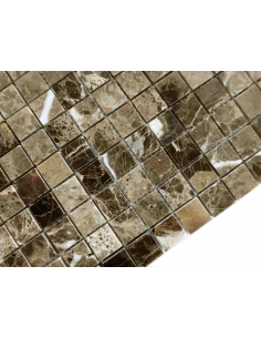 Emperador Dark Pol 15x15 4мм каменная мозаика