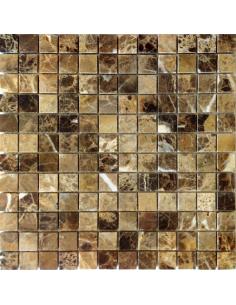 Emperador Dark Pol 23x23 4мм каменная мозаика