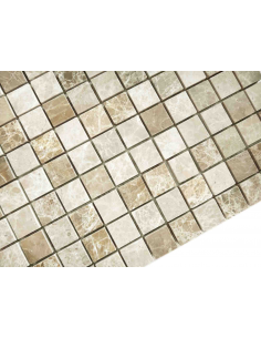 Emperador Light Mat 15x15 4мм каменная мозаика