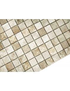 Emperador Light Pol 23x23 4мм каменная мозаика
