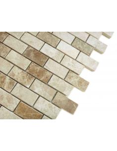 Emperador Light Pol 23x48 4мм каменная мозаика