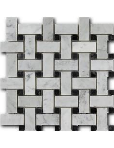 Art Natura Basket Bianco Carrara + Nero Marquina каменная мозаика