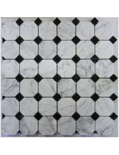 Octagon Bianco Carrara + Nero Marquina
