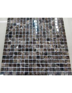 Каменная мозаика Emperador Dark 15-4P