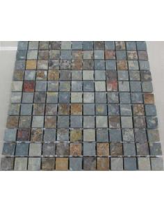 Мозаика из сланца Slate Rusty 23