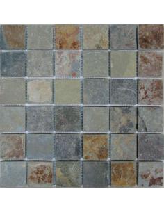 Мозаика из сланца Slate Rusty 48