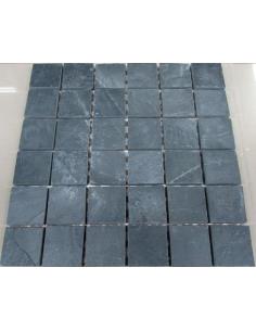 Мозаика из сланца Slate Black 48
