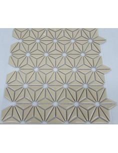 Керамическая мозаика Flowers Beige