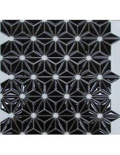 Керамическая мозаика Flowers Black
