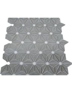 Керамическая мозаика Flowers Grey