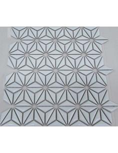 Керамическая мозаика Flowers White