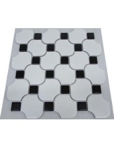 Керамическая мозаика White Wave Octagon