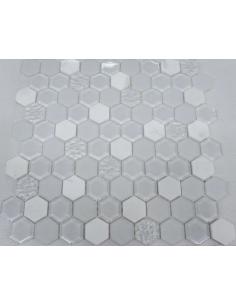 Hexagon White Glass камень и стекло