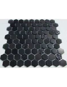 Hexagon Black Glass камень и стекло