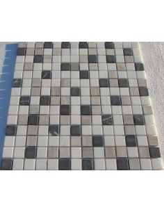 Каменная мозаика Mix Black Grey 20-4T