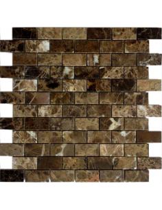 Emperador Dark Pol 23x48 4мм каменная мозаика