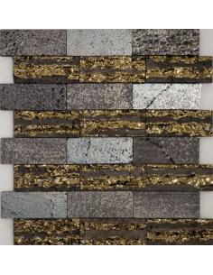 Lava Stripe мозаика из туфа