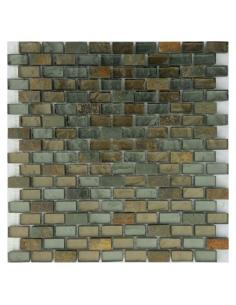 Loft Cooper мозаика из сланца и стекла