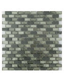 Loft Gray мозаика из сланца и стекла