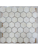 Мозаика из травертина Hexagon Travertine 48