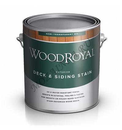 Пропитка фасадная WOOD Royal Deck Siding Semi-transparent Oil Stain 0