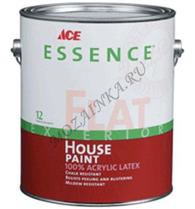 Фасадная краска Essence Flat Exterior House Paint 100% acrylic latex Ace Paint. 3