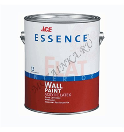 Краска матовая Essence Flat Interior Wall Paint Acrylic Latex 0