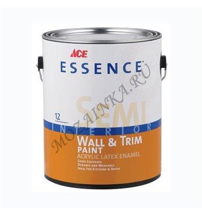 Краска Essence Semi Gloss Interior Wall Paint Аcrylic Latex 0