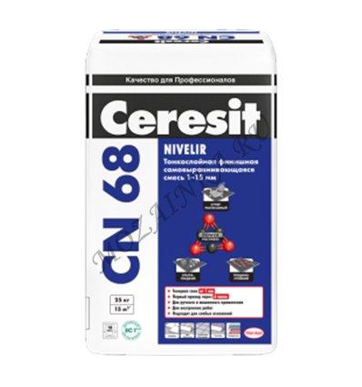 Ceresit CN 68 / Церезит ЦН 68 Смесь для пола самовыравнивающаяся от 1 до 15 мм. 25.1 кг. Светло-серый
