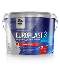Dufa Premium Europlast 3 / Дюфа Премиум Европласт 3 Краска для стен и потолков водно-дисперсионная матовая 2.5 л. Белый