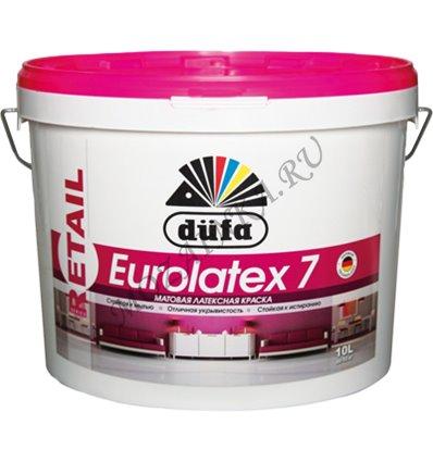 Dufa Premium Eurolatex 3 / Дюфа Премиум Евролатекс 3 Краска для стен и потолков водно-дисперсионная глубокоматовая 2.5 л. Белый