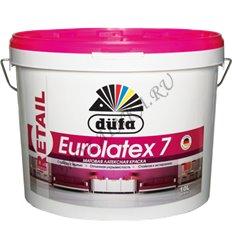 Dufa Premium Eurolatex 7 / Дюфа Премиум Евролатекс 7 Краска для стен и потолков водно-дисперсионная матовая 10 л. Белый
