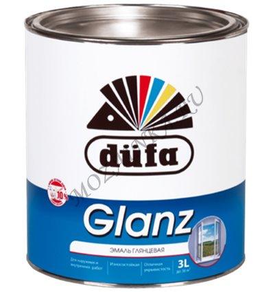 Dufa Retail Glanz / Дюфа Ритейл Гланз Эмаль для дерева и металла алкидная глянцевая 0.75 л. Белый