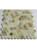 Hexagon Onyx Jade Verde мозаика из оникса