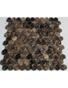 Hexagon Emperador Dark каменная мозаика