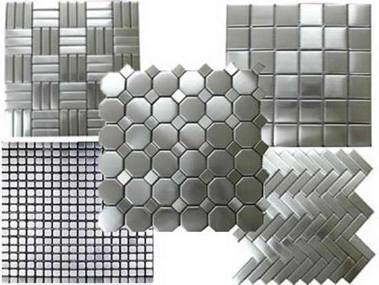 Отделка помещений металлической мозаикой