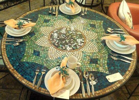Отделка стеклянной мозаикой